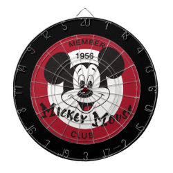 Megal Cage Dart Board with Mickey Mouse Club Logo design