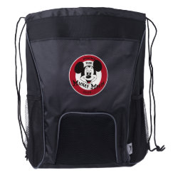 Drawstring Backpack with Bottle Holders with Mickey Mouse Club Logo design