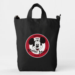 BAGGU Duck Bag with Mickey Mouse Club Logo design