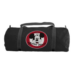 Mickey Mouse Club Logo Duffle Gym Bag