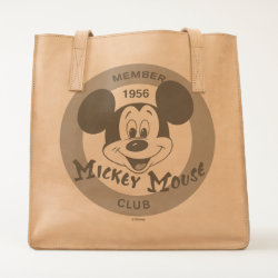 Leather Tote with Mickey Mouse Club Logo design
