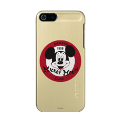 Incipio Feather Shine iPhone 5/5s Case with Mickey Mouse Club Logo design