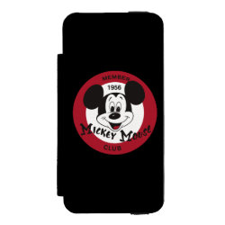 Incipio Watson™ iPhone 5/5s Wallet Case with Mickey Mouse Club Logo design