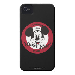Mickey Mouse Club Logo Case-Mate iPhone 4 Barely There Universal Case
