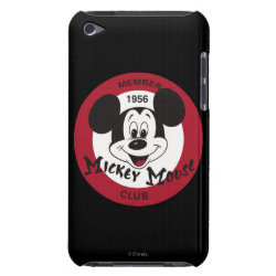 Case-Mate iPod Touch Barely There Case with Mickey Mouse Club Logo design