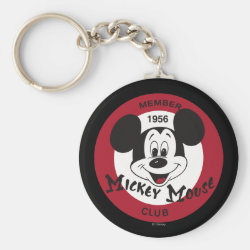 Basic Button Keychain with Mickey Mouse Club Logo design