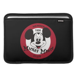 Macbook Air Sleeve with Mickey Mouse Club Logo design