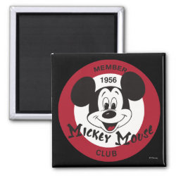 Mickey Mouse Club Logo Square Magnet
