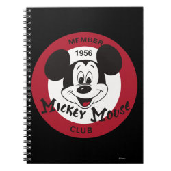 Photo Notebook (6.5' x 8.75', 80 Pages B&W) with Mickey Mouse Club Logo design