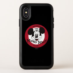 OtterBox Apple iPhone X Symmetry Case with Mickey Mouse Club Logo design