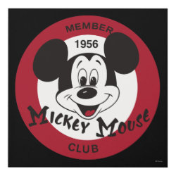 Matte Wall Panel (12x12) with Mickey Mouse Club Logo design