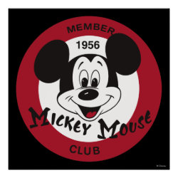 Matte Poster with Mickey Mouse Club Logo design