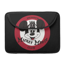 Macbook Pro 13' Flap Sleeve with Mickey Mouse Club Logo design