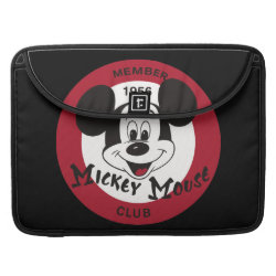 Macbook Pro 15' Flap Sleeve with Mickey Mouse Club Logo design