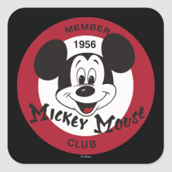 Square Sticker with Mickey Mouse Club Logo design