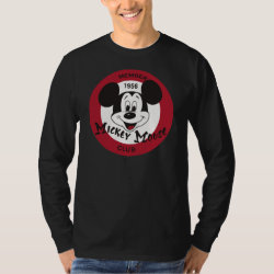 Men's Basic Long Sleeve T-Shirt with Mickey Mouse Club Logo design