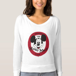 Women's Bella+Canvas Flowy Off Shoulder Shirt with Mickey Mouse Club Logo design