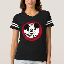 Women's Football T-Shirt with Mickey Mouse Club Logo design