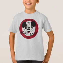 Kids' Hanes TAGLESS® T-Shirt with Mickey Mouse Club Logo design