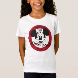 Girls' Fine Jersey T-Shirt with Mickey Mouse Club Logo design