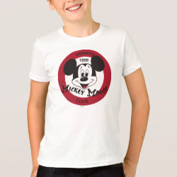 Kids' American Apparel Fine Jersey T-Shirt with Mickey Mouse Club Logo design