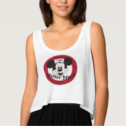 Mickey Mouse Club Logo Women's Bella Flowy Crop Tank Top