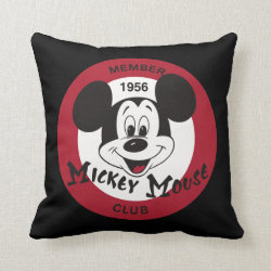 Cotton Throw Pillow with Mickey Mouse Club Logo design