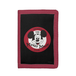 TriFold Nylon Wallet with Mickey Mouse Club Logo design