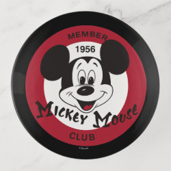 Glass Tray with Mickey Mouse Club Logo design