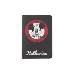 Passport Holder with Mickey Mouse Club Logo design