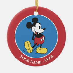 Circle Ornament with Classic Mickey Mouse design