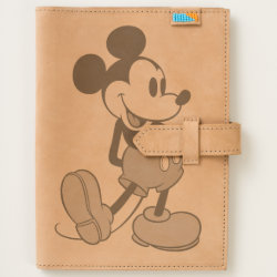 Leather Journal with Classic Mickey Mouse design