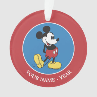 Classic Mickey Mouse | Add Your Name Ornament