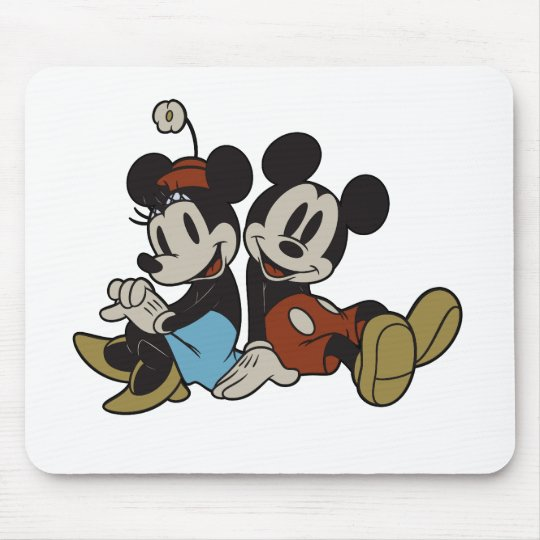 Classic Mickey Mouse and Minnie Mouse Mouse Pad