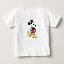 Baby Fine Jersey T-Shirt with Classic Mickey Mouse design
