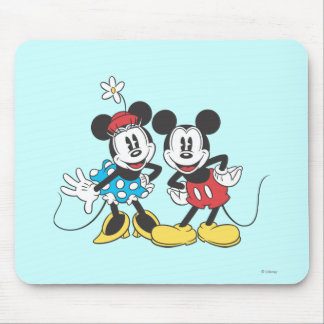 Classic Mickey Mouse & Minnie Mouse Pad