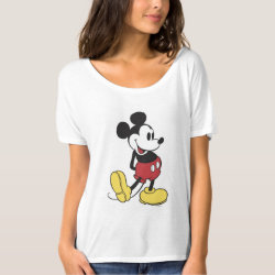 Classic Mickey Mouse Women's Bella+Canvas Slouchy Boyfriend T-Shirt