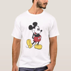 Men's Basic T-Shirt with Classic Mickey Mouse design