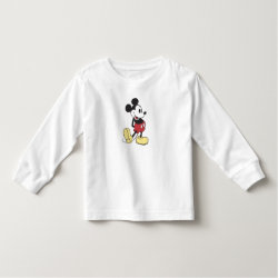 Toddler Long Sleeve T-Shirt with Classic Mickey Mouse design
