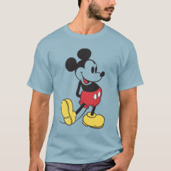 Men's Basic Dark T-Shirt with Classic Mickey Mouse design