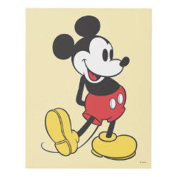 Matte Wall Panel with Classic Mickey Mouse design
