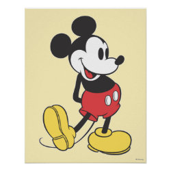 Matte Poster with Classic Mickey Mouse design