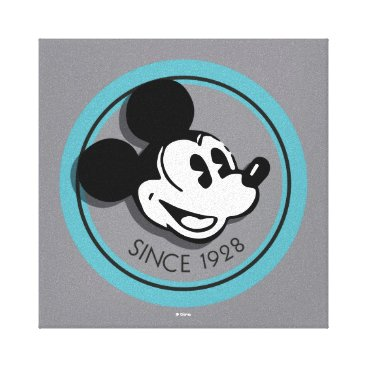 Disney Themed Classic Mickey Since 1928 2 Canvas Print