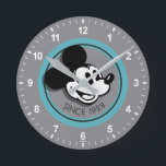 """Classic Mickey Since 1928 Round Clock<br><div class=""""desc"""">Are you a die hard Mickey Mouse fan? Then you&#39;ve come to the right place! This classic Mickey design features the mouse himself,  since 1928</div>"""