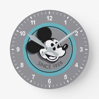 Classic Mickey Since 1928 Round Clock