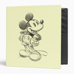 Avery Signature 1' Binder with Sketched Mickey Mouse Drawing design