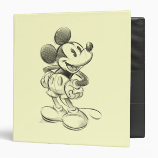 Classic Mickey | Sketch 3 Ring Binder