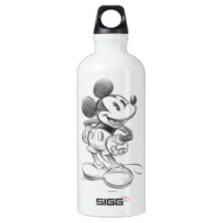 SIGG Traveller Water Bottle (0.6L) with Sketched Mickey Mouse Drawing design