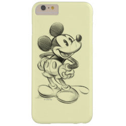 Sketched Mickey Mouse Drawing Case-Mate Barely There iPhone 6 Plus Case