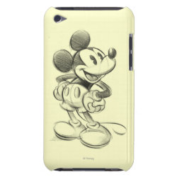 Case-Mate iPod Touch Barely There Case with Sketched Mickey Mouse Drawing design